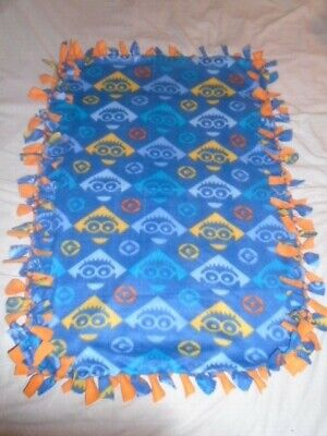 Blanket~Despicable Me Minion Colorful Hand Tied Double Side Fleece Blanket~New