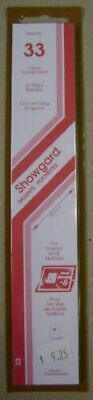 Showgard size 33 clear hingeless stamp mount NEW unopened pack 1st quality 215mm
