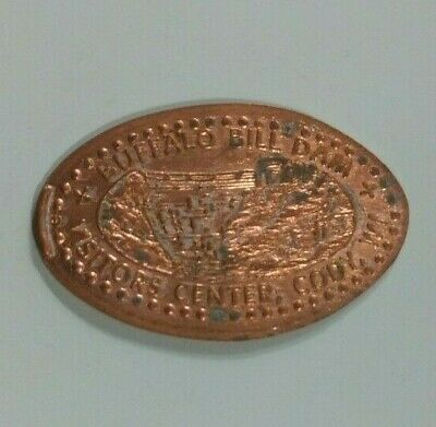 BUFFALO BILL DAM Visitors Center Cody WY Elongated Penny RETIRED