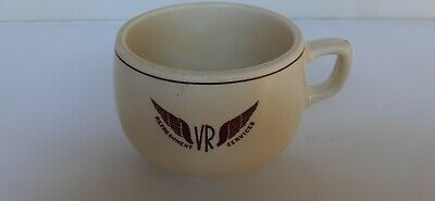"2 Rare Vintage V.R. Victorian Railways ""Duraline"" Coffee and Tea Cups"