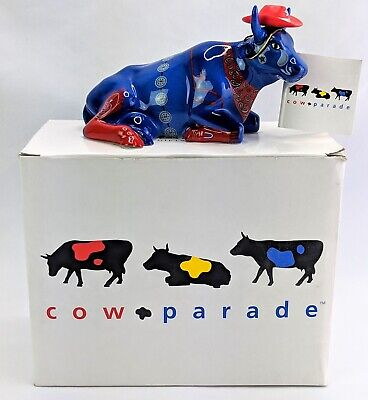Cow Parade Westland #9180 EVEN COWGIRLS GET THE BLUES w/ Box and Original Tag