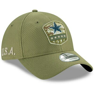 Dallas Cowboys New Era 2019 Salute to Service 9Twenty Adjustable Hat - Olive