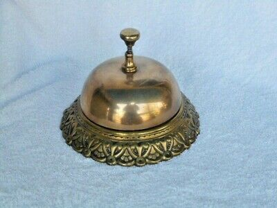 Antique Rare Large Solid Brass Reception Bell Flagstaff Hotel Pub Adelaide Works