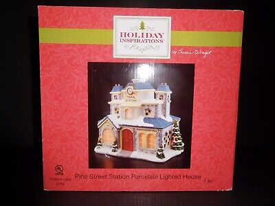 """Holiday Inspirations Lighted Christmas Village """"Pine Street Station"""""""