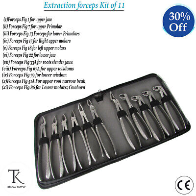 Dentist Tooth Extracting Roots Forceps Surgery Tools Kit
