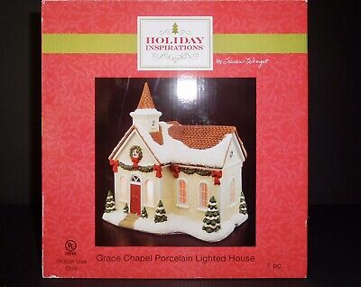 """Holiday Inspirations Lighted Christmas Village """"Grace Chapel"""""""