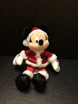 Mickey Mouse - Santa Outfit Plush  - Disney Parks - Small - New with Tags