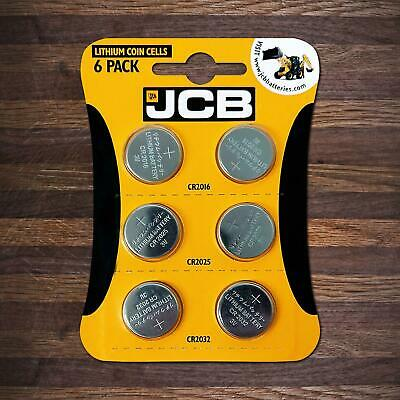 6 X JCB CR2032 CR2025 CR2016 3V Lithium Button Coin Cell Battery DL2032 BR2032