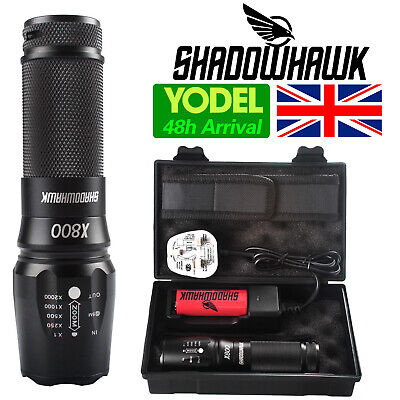 Genuine 20000lm Shadowhawk X800 Tactical Flashlight Cree L2 LED Military Torch