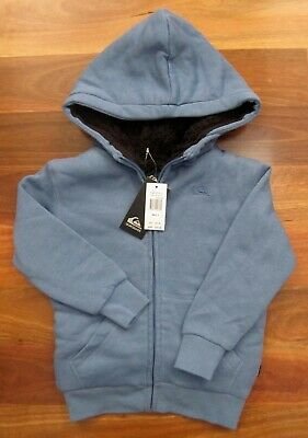 RRP: $79.99 New Boy's Size 3 QUIKSILVER Thick Blue Lined Hooded Jacket