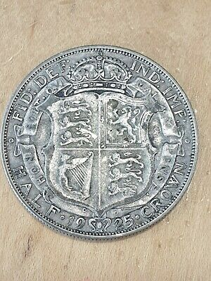 1925 GEORGE V SILVER Half-Crown COIN key date