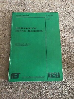 Requirements for Electrical Installations: IET Wiring Regulations: BS 7671:2008