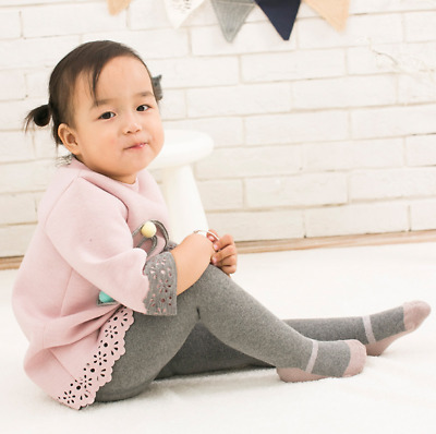 3 pcs Baby Girls Thickened Knit Stockings Pantyhose Infants Toddlers