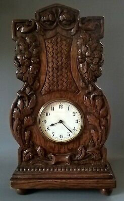 Antique Buren Swiss Made Heavily Carved Oak Clock In Working Order