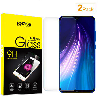 2-Pack Khaos For Xiaomi Redmi Note 8 Tempered Glass Screen Protector