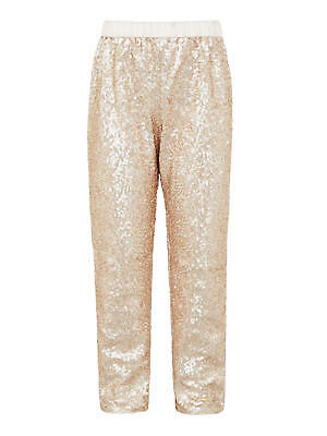 John Lewis Girls' Sequin Trousers, Gold RRP £28