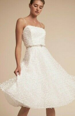 NWT $380 BHLDN JS Collection HUDSON White Ivory Rehearsal Destination Formal 2 6