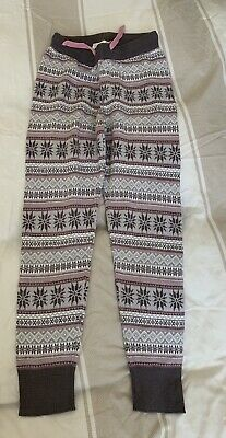 Girls H&M Knitted Nordic Joggers Size 8-9 Years