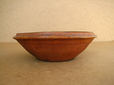 Old Antique Primitive Redware Dish Bowl Cup Mug Pan Glazed Rustic Early 20th