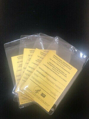 OFFICIAL International Certificate of Vaccination-pack of 4 with plastic covers