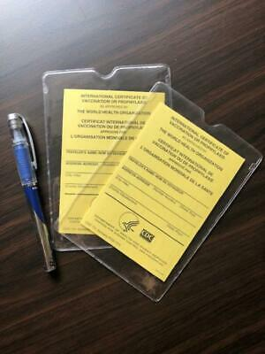 OFFICIAL International Certificate of Vaccination- Pack of 2 with plastic covers