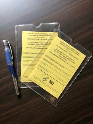 OFFICIAL International Certificate of Vaccination - Pack of 2