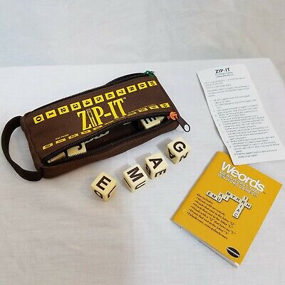ZIP IT by Bananagrams Traveling Word Building Game Educational with Instructions