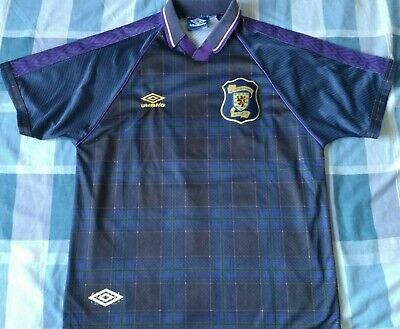 Camiseta Trikot Shirt SCOTLAND Scozia Umbro Season 1996 Size L away Vintage