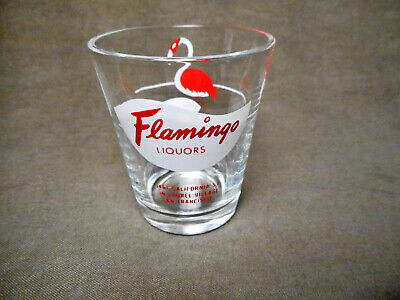 Vintage Flamingo Liquors San Francisco  Shot Glass