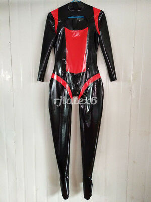 Latex Rubber Ganzanzug Racing Suit Gummi Bodysuit Kostüm Catsuit Size S-XXL