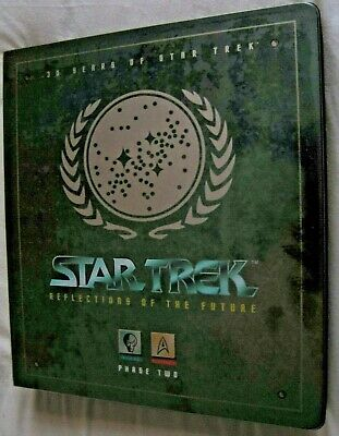 Star Trek Reflections Of The Future Binder Plus Widevision Card Sets III,IV,V