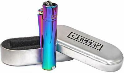 Clipper Rainbow Lighter Metal Flint Mixed Icy Colours (CM019)
