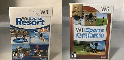 Lot Of 2 Games Wii Sports & Wii Sports Resort Nintendo Selects Complete