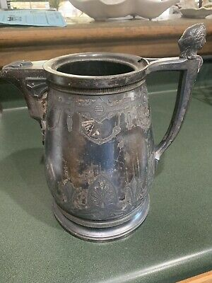 Antique Wilcox Silver Co. Double Wall Water Pitcher