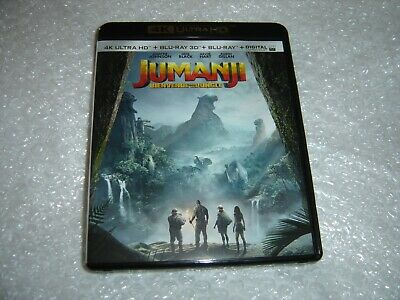 Jumanji Welcome To The Jungle 3 Disc 4K UHD HD 3D Blu-ray New French Cover