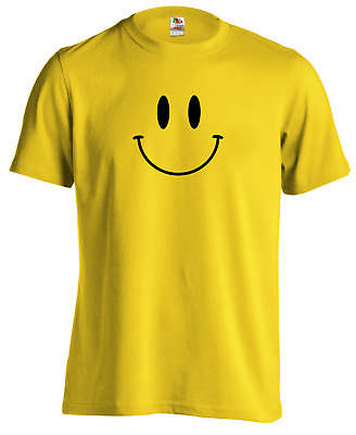 SMILEY FACE Acid House Dance Rave Techno 90's Music RETRO DJ TShirt Tee Top