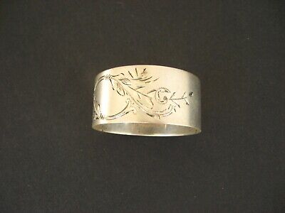 NAPKIN RING STERLING SILVER Antique TOWLE Bright-Cut #8682