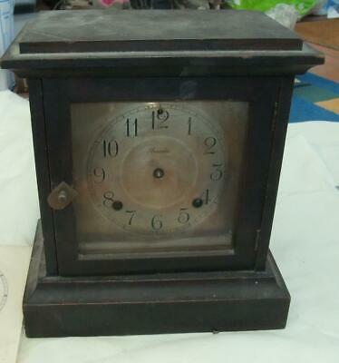 Antique Ansonia USA Wooden Mantel Clock  for restoration