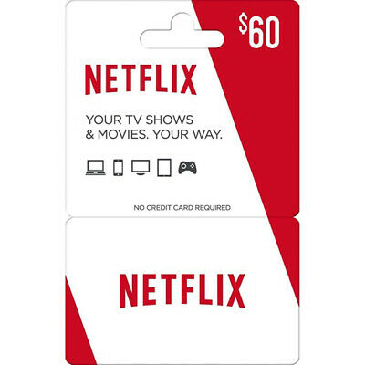 Netflix $60 Gift-card (email delivery)