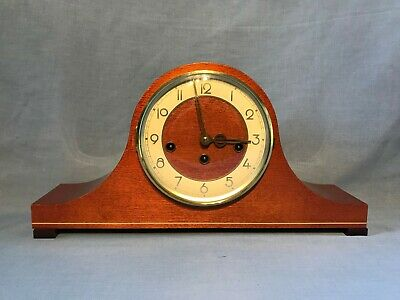 Franz HERMLE Mahogany 8 Day Westminster Chime Napoleon Hat Mantle Clock