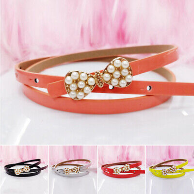 Baby Kids Girls PU Leather Waist Belts Waist Strap Waistband Buckle Waistbelts
