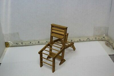 Doll House Miniature Hand Made Clothes Wringer and Drying Rack Signed works