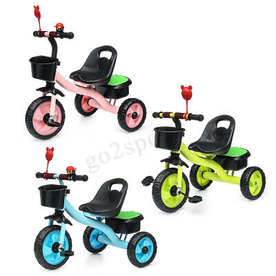 3 Wheel Bike Bicycle Tricycle Trike Basket Baby Kids Children Rid on Toy Outdoor