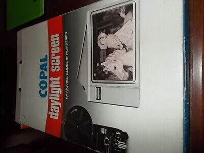 Copal daylight screen DS-2 For Movies, Slides or Filmstrips.