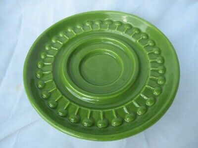 Mid Century Modern Haeger 3111 USA Pottery Candle Holder Green