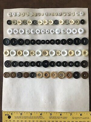 Assorted Lot Of Vintage Buttons: Some Could Be Vegetable Ivory