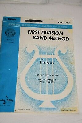 First Division Band Method Clarinet Book Belwin Mills Part Two
