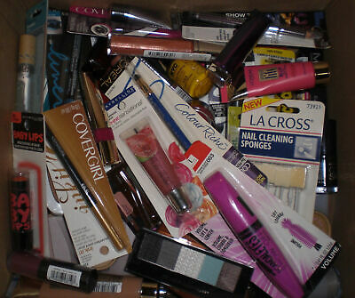 Cosmetics Makeup Lot Beauty Bundle Box Eyes, Lips, Face, Nails ALL Big BRands