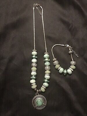 Stunning Silver Plated Handmade Necklace Set Jewelry