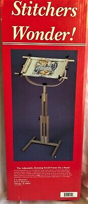 "FA Edmunds ""Stitchers Wonder"" Cross Stitch Scroll Frame & Floor Stand"
